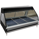 Alto-Shaam ED2-48 BK Black Heated Display Case with Curved Glass - Full Service 48