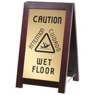 Cal-Mil 851-WET 2-Sided Wooden WET FLOOR Sign