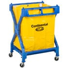 Continental 275 Huskee Blue X Frame Folding Laundry Cart