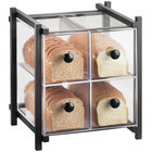 Cal-Mil 1146-13 One by One Four Drawer Black Bread Display Case - 14