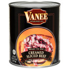 Vanee 490GK Creamed Sliced Beef - (6) #10 Cans / Case