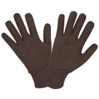 Two Piece Reversible Brown Jersey Gloves - Large - 12 Pairs / Pack