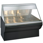 Alto-Shaam EC2SYS-48/P BK Black Heated Display Case with Angled Glass and Base - Self Service 48