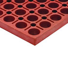 Cactus Mat 4420-RS VIP Duralok 3' x 5' Red Grease-Resistant Anti-Fatigue Anti-Slip Floor Mat - 3/4