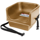 Cambro 100BCS Beige Single Seat Booster Chair with Strap
