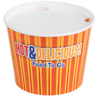 Choice 5 lb. Hot Food Bucket with Lid - 100/Case