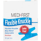 Blue Woven Adhesive Knuckle Bandage - 50 / Box