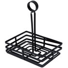 Choice Flat Coil Rectangular Wrought Iron Condiment Basket - 8