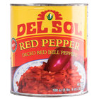 Del Sol Diced Red Bell Peppers - (6) #10 Cans / Case