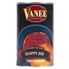 Vanee 156GZ Beef Sloppy Joe 6 - 50 oz. Cans / Case