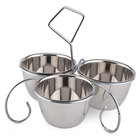 10 oz. Stainless Steel 3 Bowl Server / Caddy