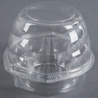 Swirl Dome 1 Compartment Hinged Clear Cupcake Container - 10 / Pack