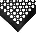 3' x 5' Black Anti-Fatigue Floor Mat with Beveled Edge - 3/8