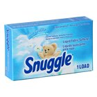 1.5 oz. Snuggle Blue Sparkle Liquid Fabric Softener Box for Coin Vending Machine - 100 / Case