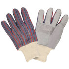 Shoulder Leather Clute Cut Leather Gloves with Palm Patch - Large - 12 Pairs / Pack