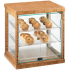 Cal-Mil 284-S-60 Three Tier Bamboo Display Case with Dual Front Doors - 21