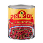 Mixed Red and Green Pepper Strips - (6) #10 Cans / Case