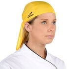 Headsweats 8800-805 Yellow 100% Performance Fabric Adjustable Chef Bandana / Do Rag