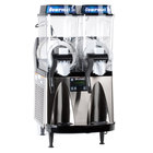 Bunn 34000.0081 Ultra-2 HP High Performance Black and Stainless Steel Double 3 Gallon Pourover Slushy / Granita Frozen Drink Machine - 120V