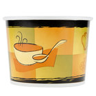 Huhtamaki Chinet 60464 64 oz. Double-Wall Poly Paper Soup / Hot Food Cup with Streetside Design - 250 / Case