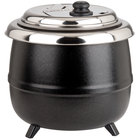 Avantco S600 14 Qt. Black Soup Kettle Warmer - 110V, 600W