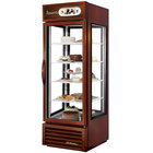 True G4SM-23-LD Bronze Four Sided Glass Door Refrigerator Merchandiser with Front Sign - 23 Cu. Ft.