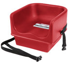 Cambro 100BCS Hot Red Single Seat Booster Chair with Strap