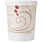 Dart Solo KH32A-J8000 32 oz. Double-Wall Poly Paper Soup / Hot Food Cup with Vented Paper Lid and Symphony Design - 250 / Case