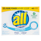 52 oz. Diversey CB456816 All Free & Clear Hypoallergenic Laundry Detergent Powder - 6 / Case