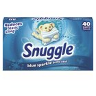 40 Count Diversey CB451088 Snuggle Blue Sparkle Fabric Softener Sheets -12 / Case