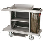 Rubbermaid 6189 Gray Full Size Housekeeping Cart (FG618900PLAT)