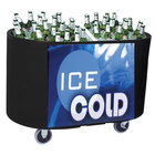 Black Texas Tanker 1060 Portable Insulated Ice Bin / Beverage Cooler / Merchandiser with Two Compartments 256 Qt.