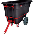 Rubbermaid FG131641BLA Black 1.0 Cubic Yard Towable Trainable Tilt Truck (2100 lb.)