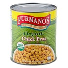 Furmano's Organic Chick Peas (Garbanzo Beans) 6 - #10 Cans / Case