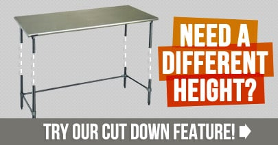 Need a different height? Try our cut down feature!