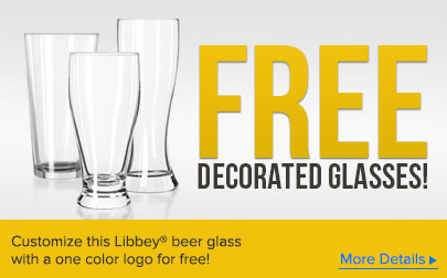 Customize this Libbey beer glass with a one color logo for free!